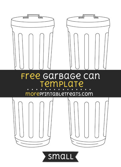 Free Garbage Can Template - Small