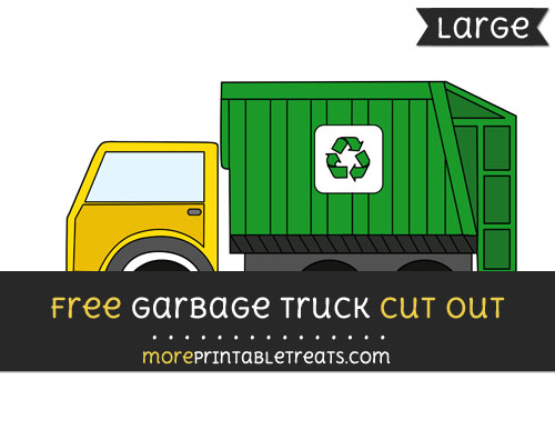 Free Garbage Truck Cut Out - Large size printable
