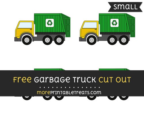 Free Garbage Truck Cut Out - Small Size Printable