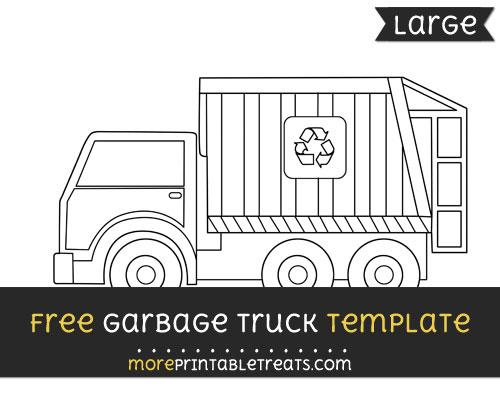 Free Garbage Truck Template - Large