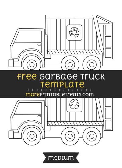 Free Garbage Truck Template - Medium