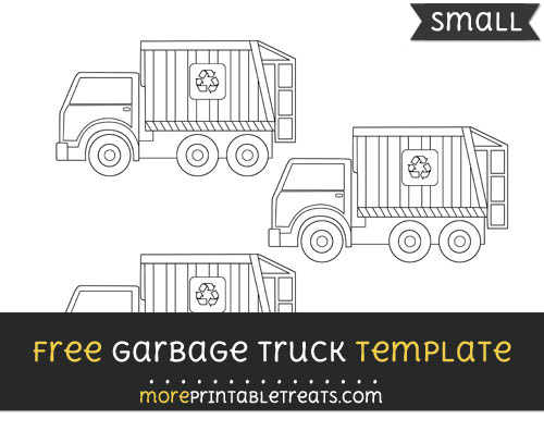 Free Garbage Truck Template - Small