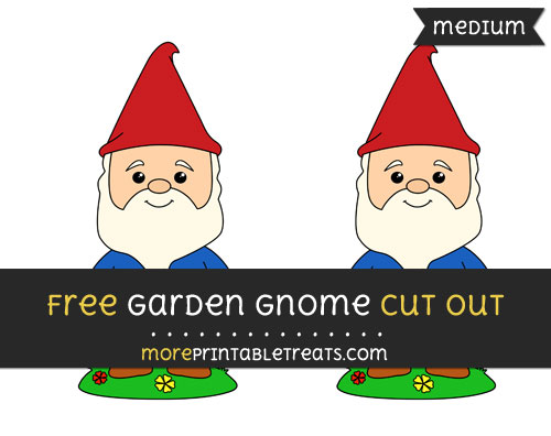 Free Garden Gnome Cut Out - Medium Size Printable