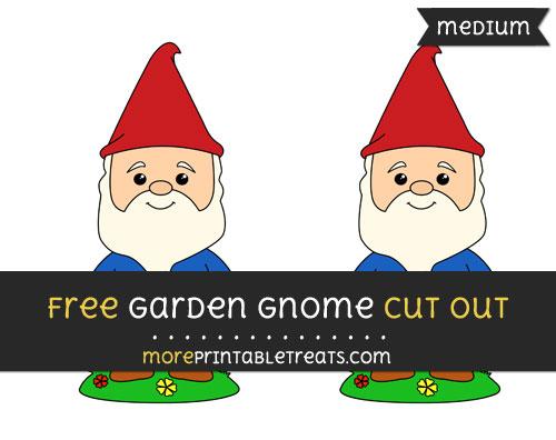 Free Garden Gnome Cut Out - Medium Size Printable