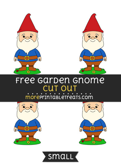 Free Garden Gnome Cut Out - Small Size Printable