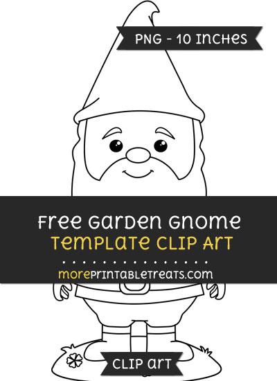 Free Garden Gnome Template - Clipart
