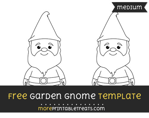 Free Garden Gnome Template - Medium