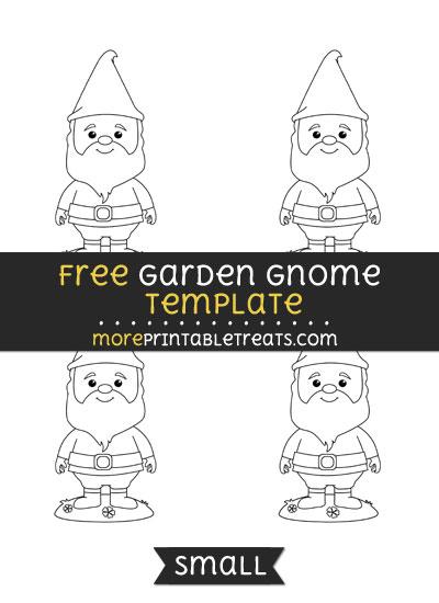 Free Garden Gnome Template - Small