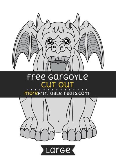Free Gargoyle Cut Out - Large size printable