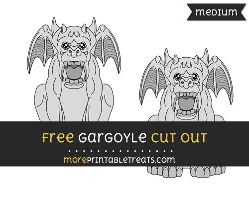 Free Gargoyle Cut Out - Medium Size Printable