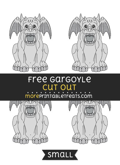 Free Gargoyle Cut Out - Small Size Printable