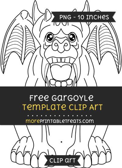 Free Gargoyle Template - Clipart