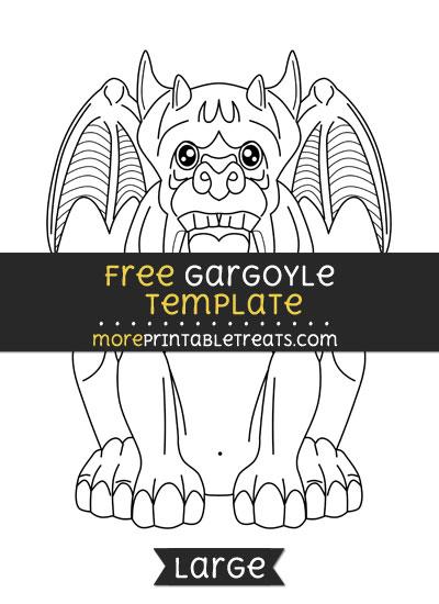Free Gargoyle Template - Large