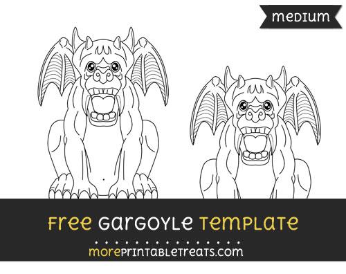 Free Gargoyle Template - Medium