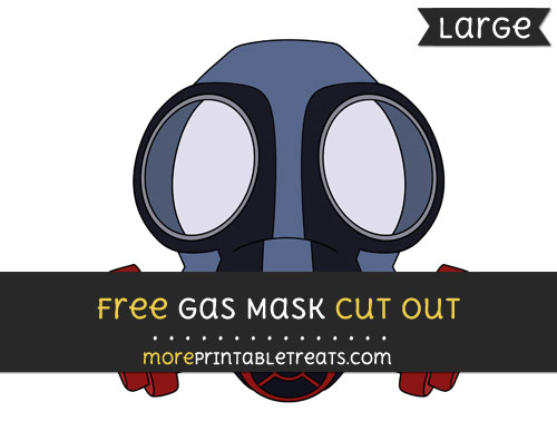 Free Gas Mask Cut Out - Large size printable