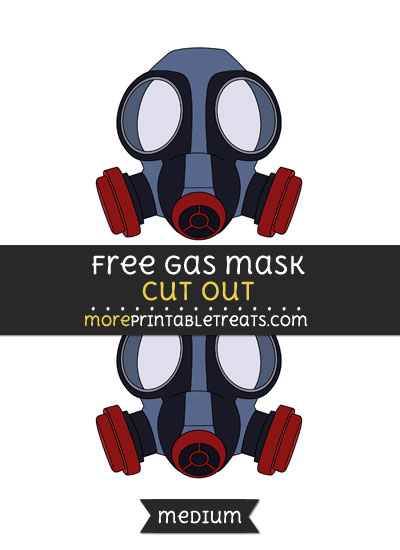 Free Gas Mask Cut Out - Medium Size Printable