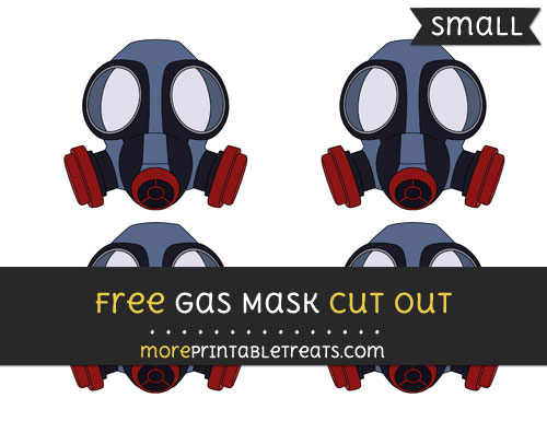 Free Gas Mask Cut Out - Small Size Printable