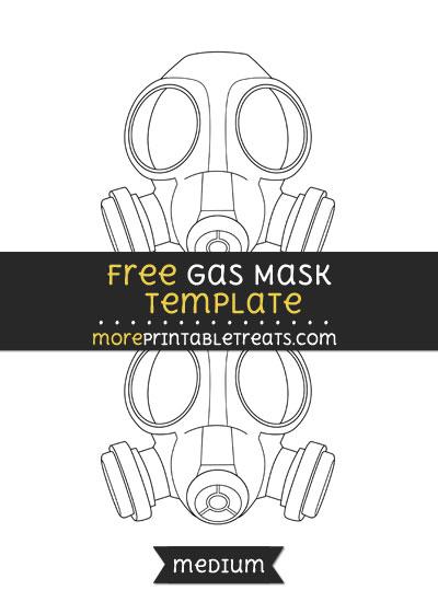 Free Gas Mask Template - Medium