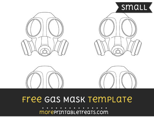 Free Gas Mask Template - Small
