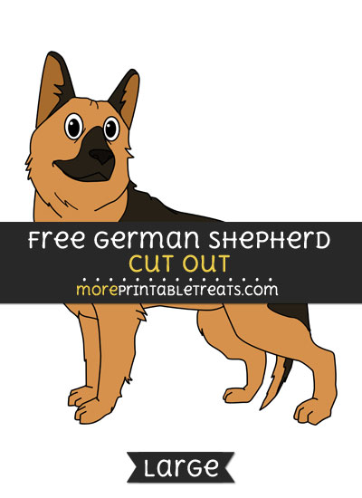 Free German Shepherd Cut Out - Large size printable