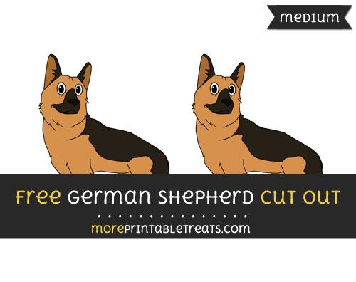 Free German Shepherd Cut Out - Medium Size Printable