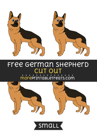 Free German Shepherd Cut Out - Small Size Printable