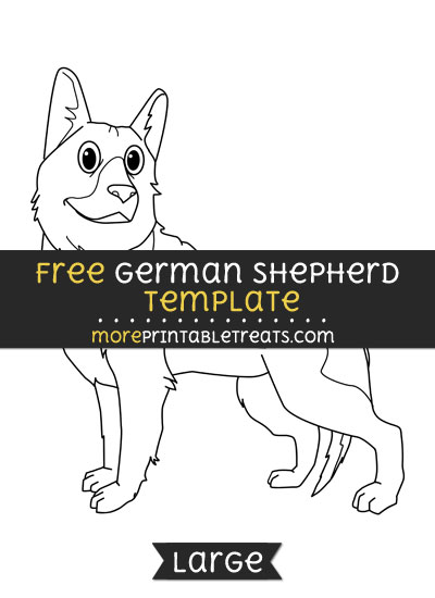 Free German Shepherd Template - Large