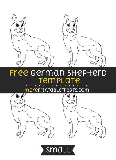 Free German Shepherd Template - Small
