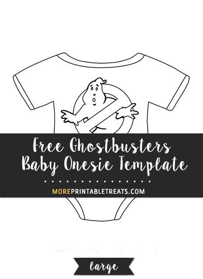 Free Ghostbusters Baby Onesie Template - Large