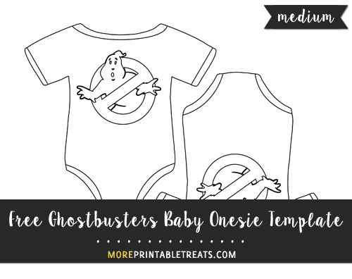 Free Ghostbusters Baby Onesie Template - Medium Size