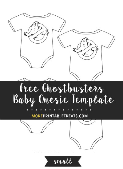 Free Ghostbusters Baby Onesie Template - Small Size