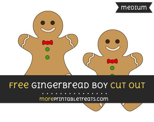 Free Gingerbread Boy Cut Out - Medium Size Printable