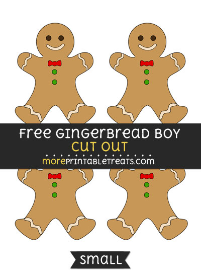 Free Gingerbread Boy Cut Out - Small Size Printable