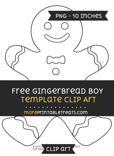 Free Gingerbread Boy Template - Clipart