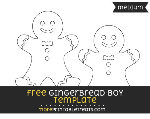 Free Gingerbread Boy Template - Medium