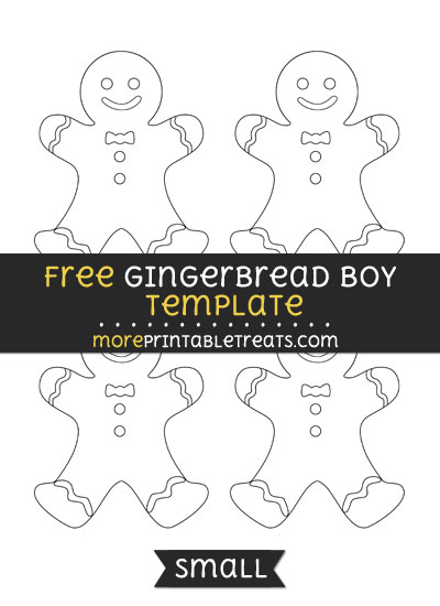 Free Gingerbread Boy Template - Small