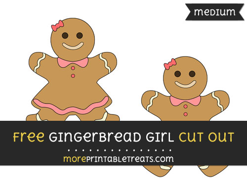 Free Gingerbread Girl Cut Out - Medium Size Printable
