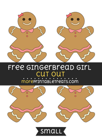 Free Gingerbread Girl Cut Out - Small Size Printable