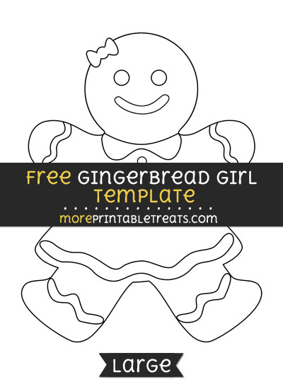 Free Gingerbread Girl Template - Large