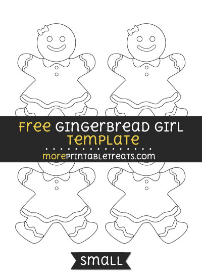 Free Gingerbread Girl Template - Small