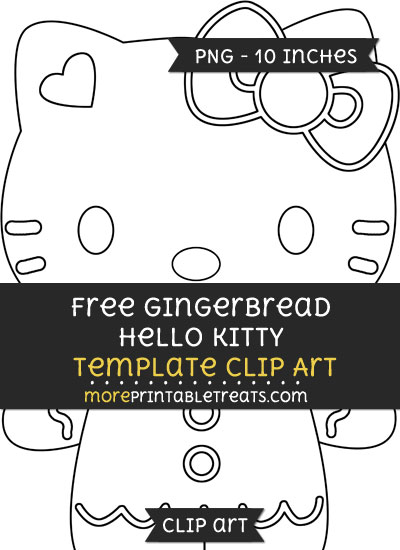 Free Gingerbread Hello Kitty Template - Clipart