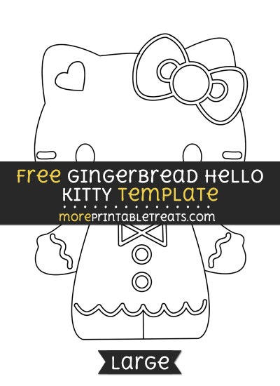 Free Gingerbread Hello Kitty Template - Large