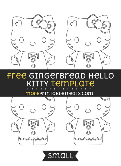 Free Gingerbread Hello Kitty Template - Small