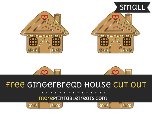 Free Gingerbread House Cut Out - Small Size Printable