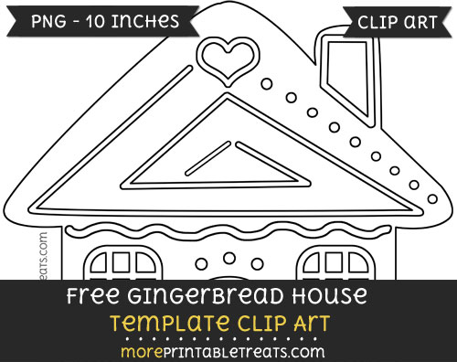 Free Gingerbread House Template - Clipart