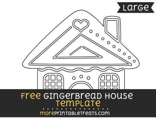 Free Gingerbread House Template - Large