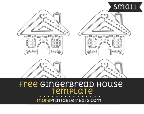 Free Gingerbread House Template - Small