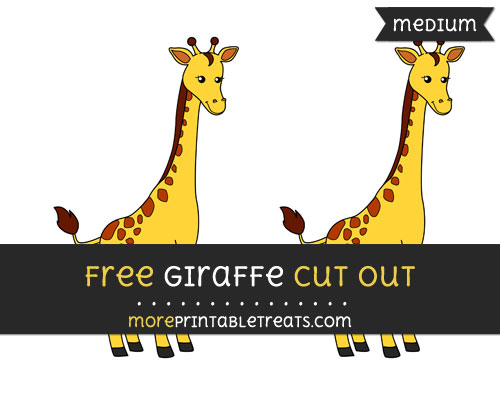 Free Giraffe Cut Out - Medium Size Printable