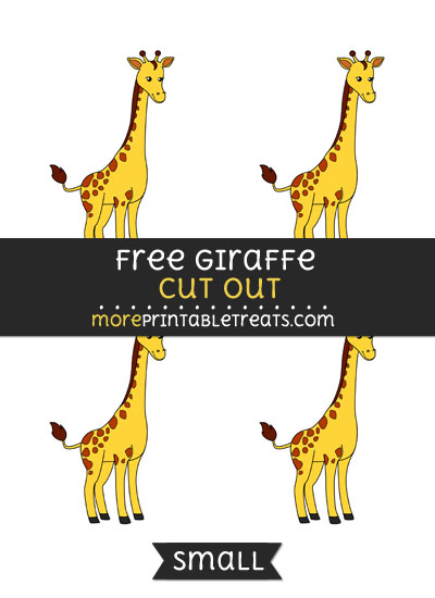Free Giraffe Cut Out - Small Size Printable