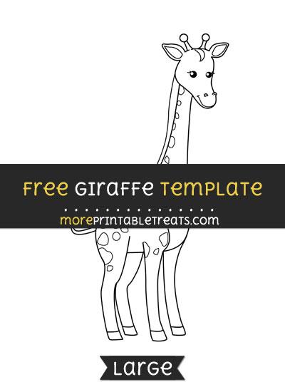 Free Giraffe Template - Large